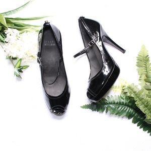 Stuart Weitzman Black Patent Leather Mary Jane
